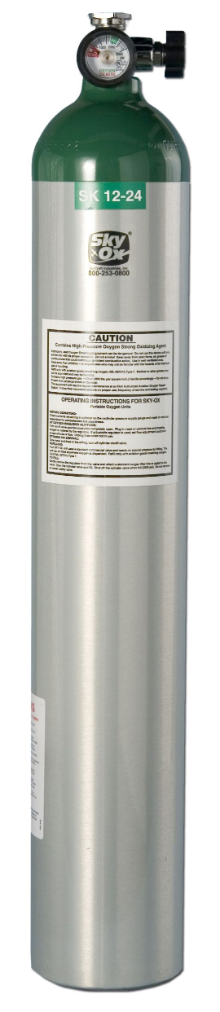 24 Twenty Four Cubic Foot Oxygen Cylinder